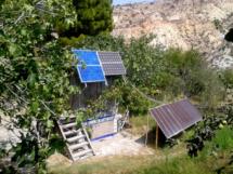 Distintos tipos de paneles fotovoltaicos.