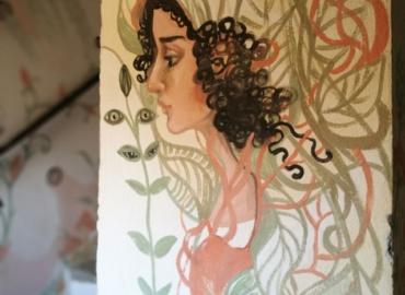 Pintura en la pared en base de arcilla