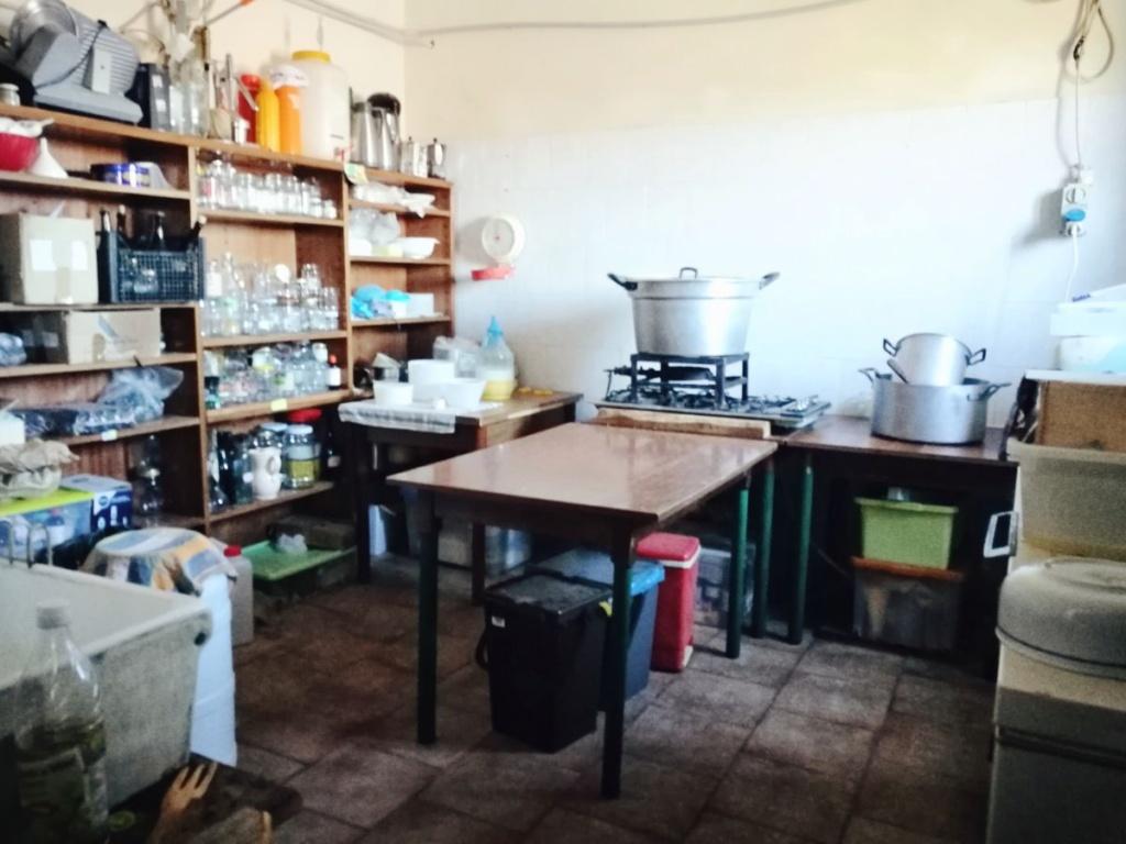 Habitación en la que elaboran el queso